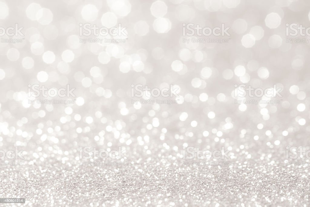 silver bokeh abstract background stock photo