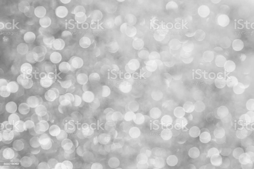 Silver Bokeh stock photo