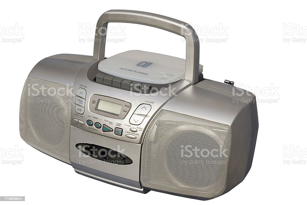 Silver Boom Box royalty-free stock photo