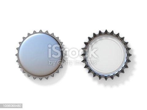 istock Silver bottle caps 3D 1056065482