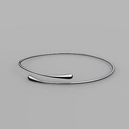 1149145638 istock photo Silver Bracelet Waterdrop design 1148037642