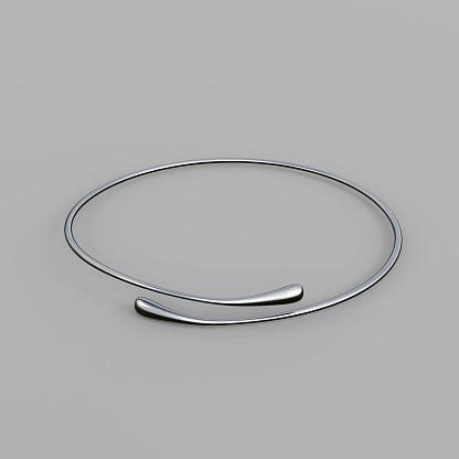 1149145638 istock photo Silver Bracelet Waterdrop design 1148037787