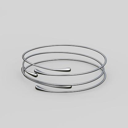 1149145638 istock photo Silver Bracelet Waterdrop design 1148039454