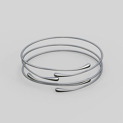 1149145638 istock photo Silver Bracelet Waterdrop design 1148039455