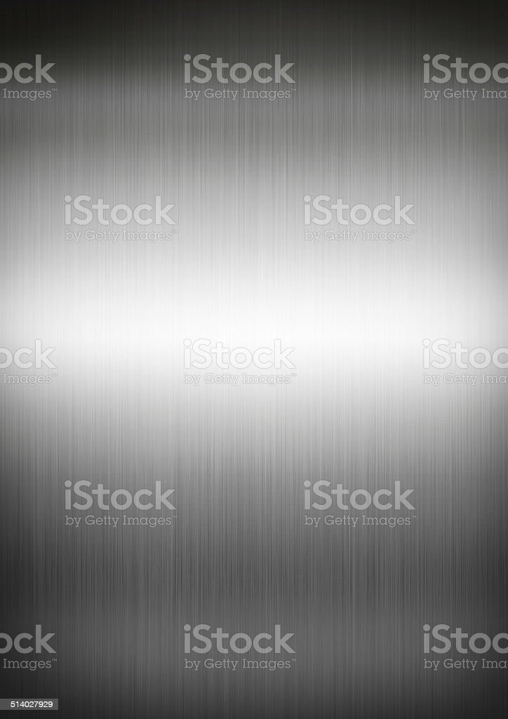 Silver brushed metal background texture stock photo