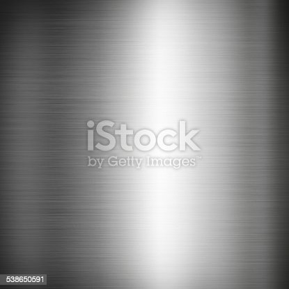 istock Silver brushed metal background texture 538650591
