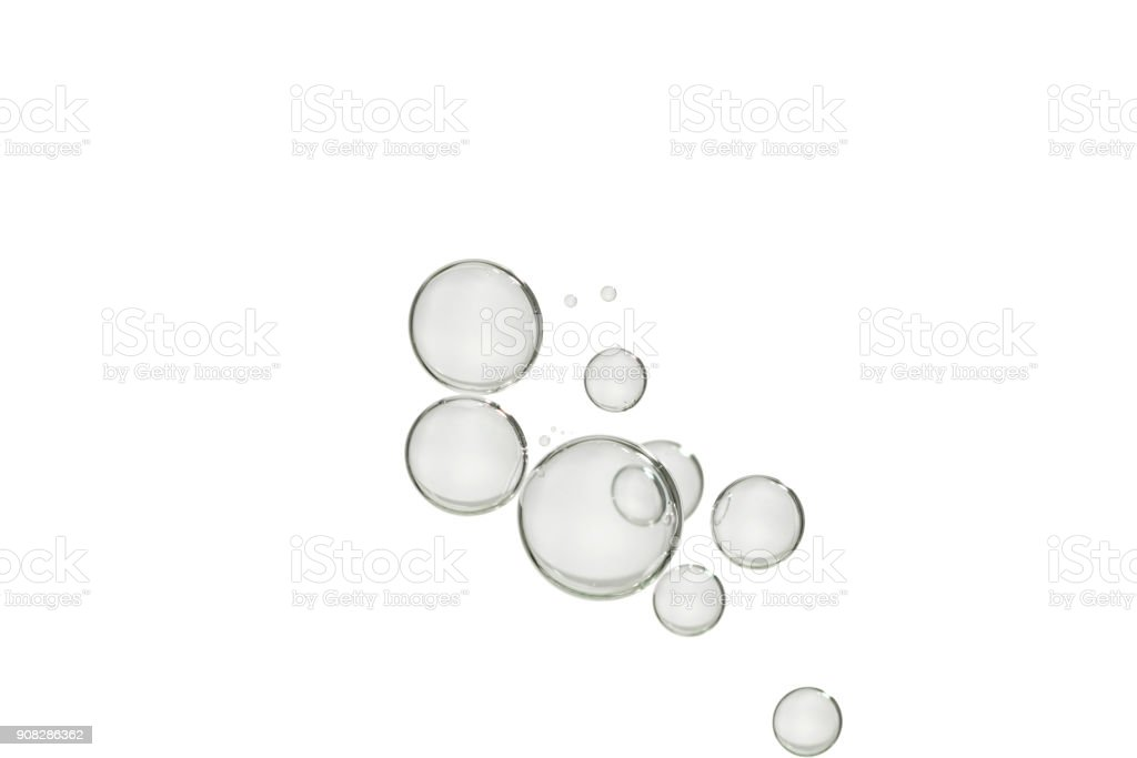 Silver bubbles stock photo