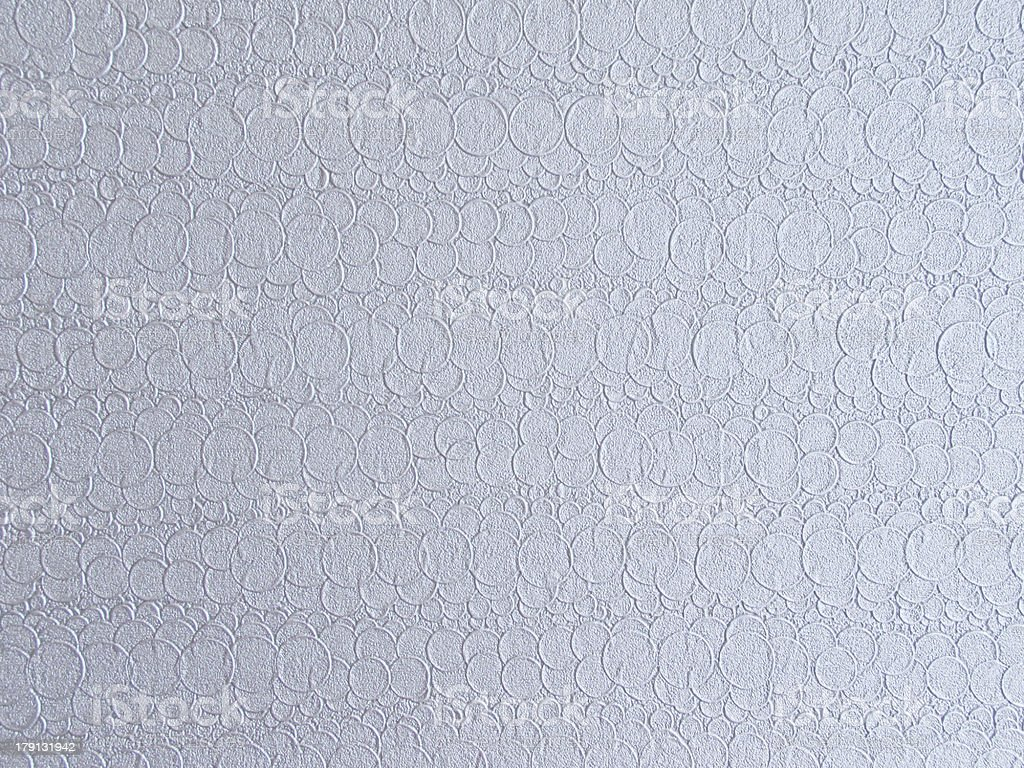silver buble vinyl wall cover stock photo