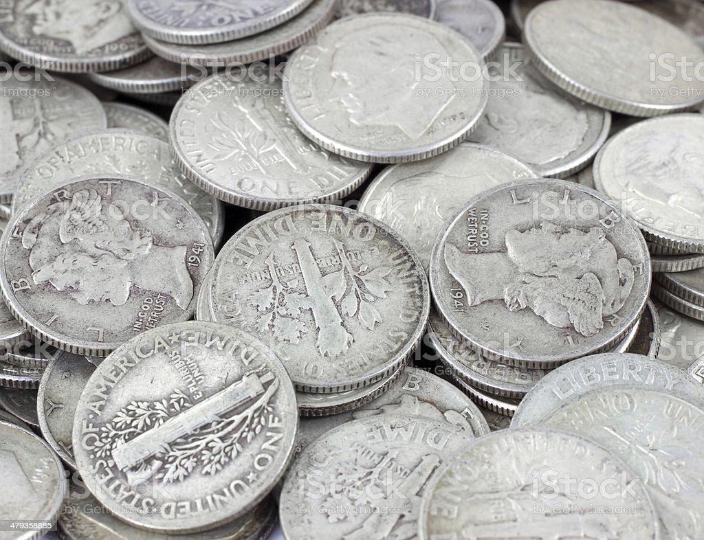 Silver bullion stock photo