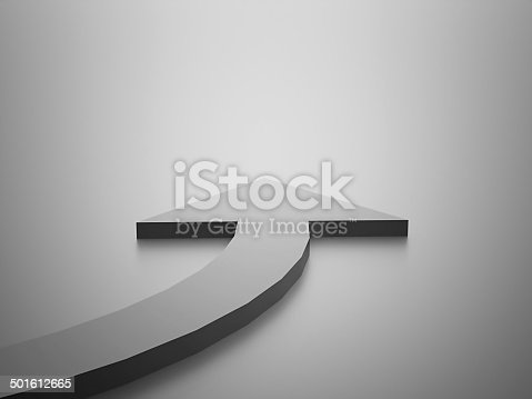 istock Silver business concept  arrow 501612665