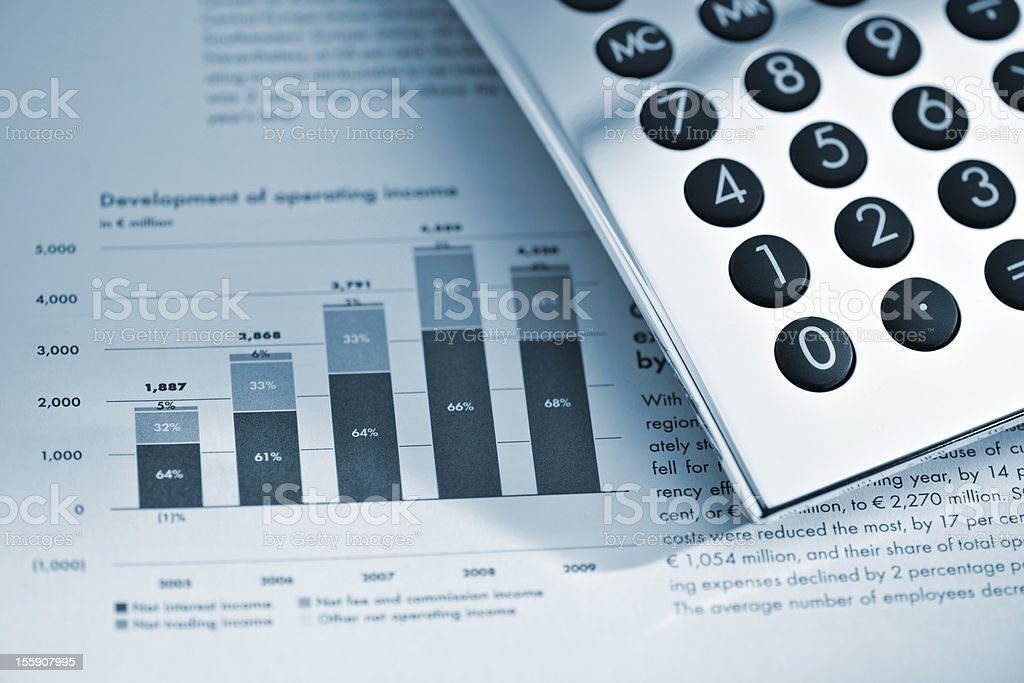 Silver Calculator On Sheet Of Financial Data Stock Photo More