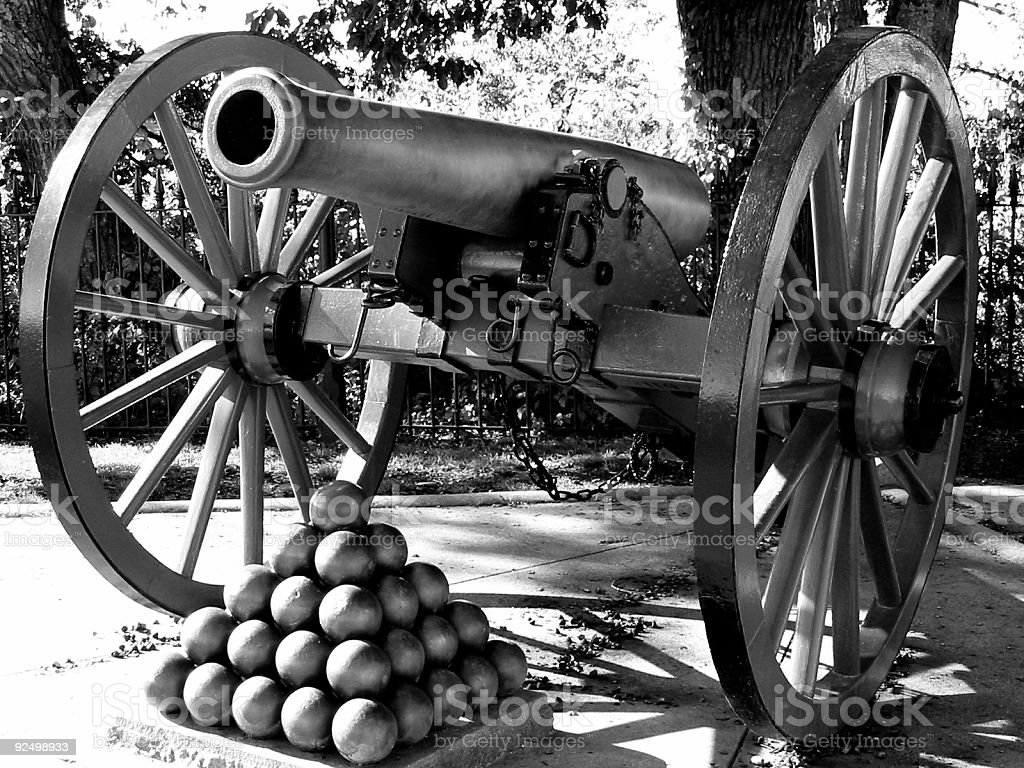 Silver Cannon royalty-free stock photo