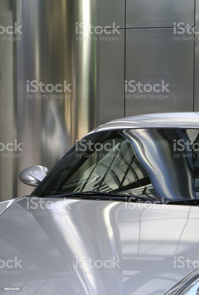Silver car 2 royalty-free stock photo