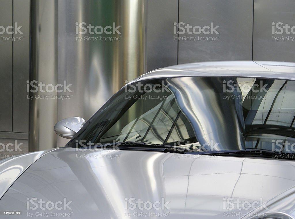 silver car royalty-free stock photo