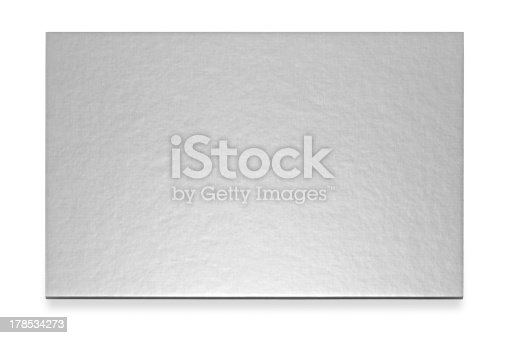 Silvern card in the white background.