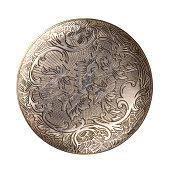Silver carved disk