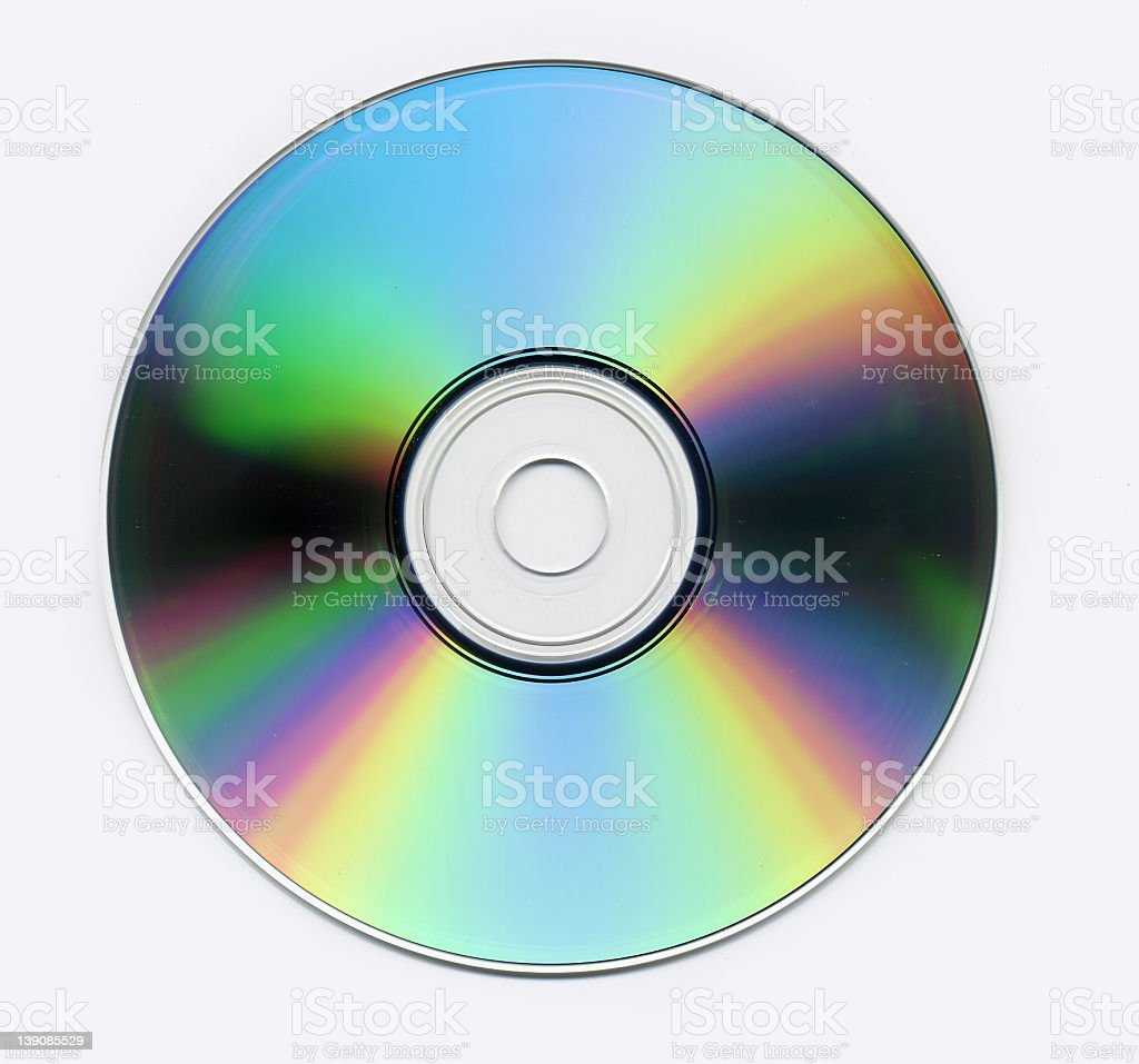 silver cd stock photo