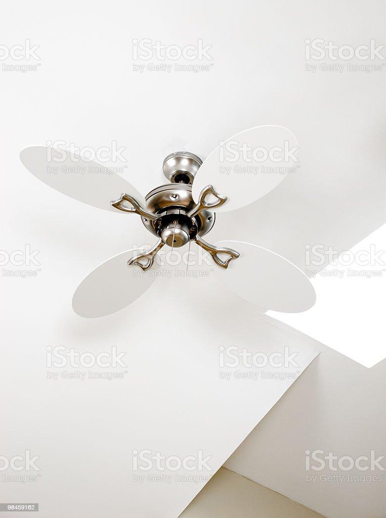 silver Ventilatore a soffitto, ventilateur de plafond foto stock royalty-free