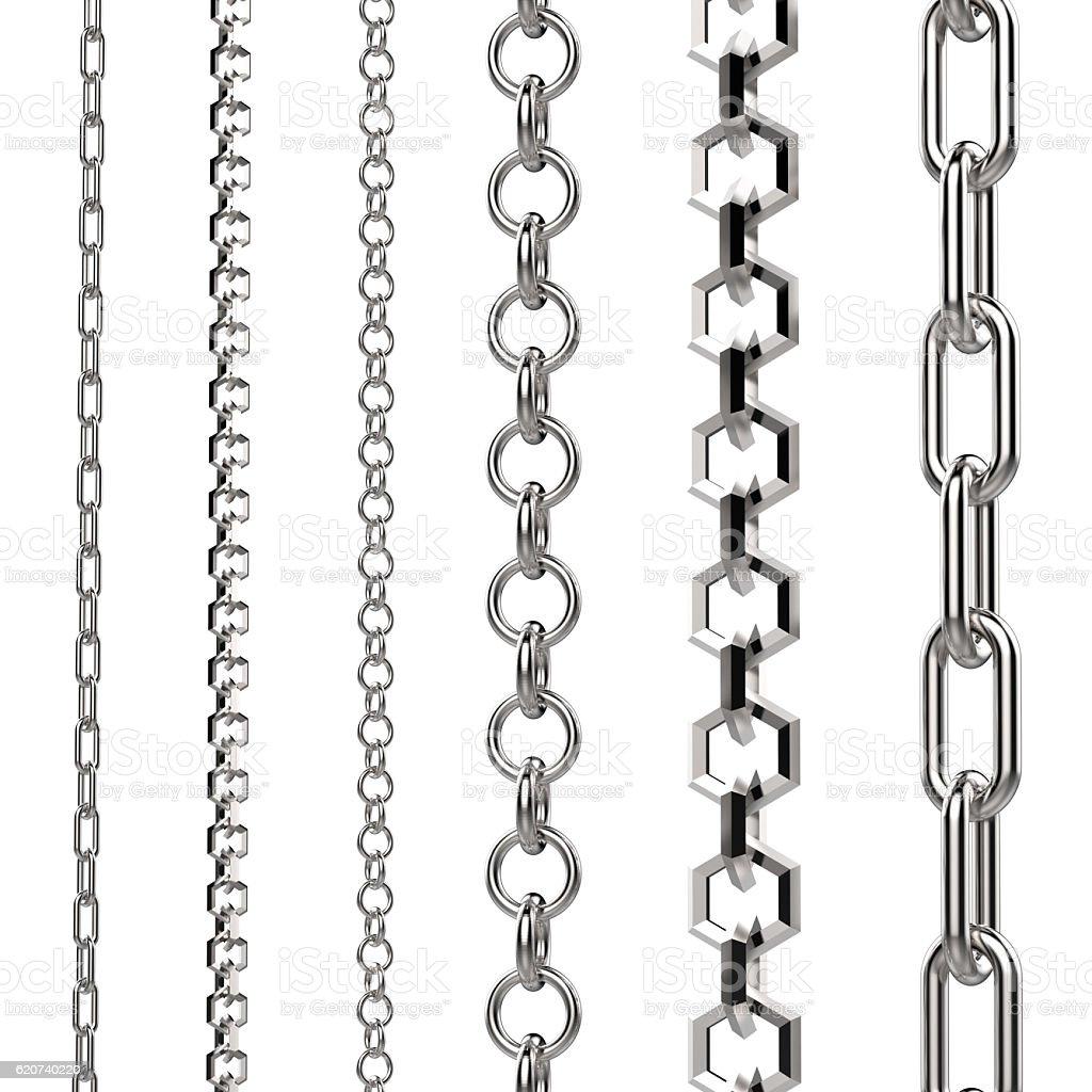 silver chain stock photo
