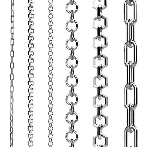 серебряная цепочка - ожерелье стоковые фото и изображения