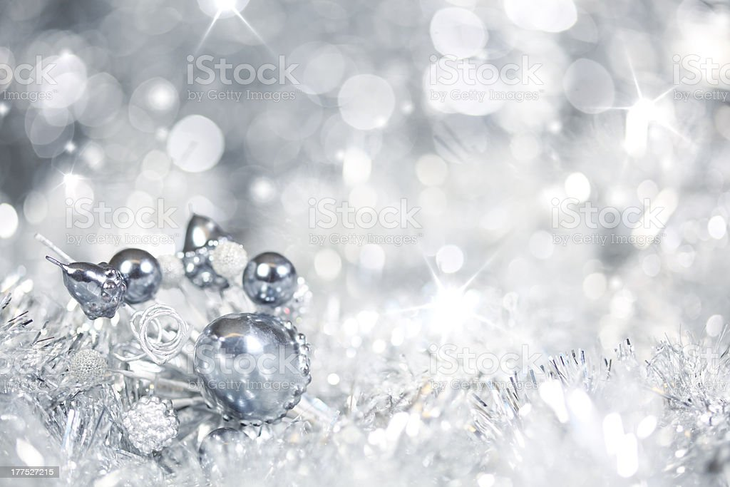 Silver Christmas background royalty-free stock photo