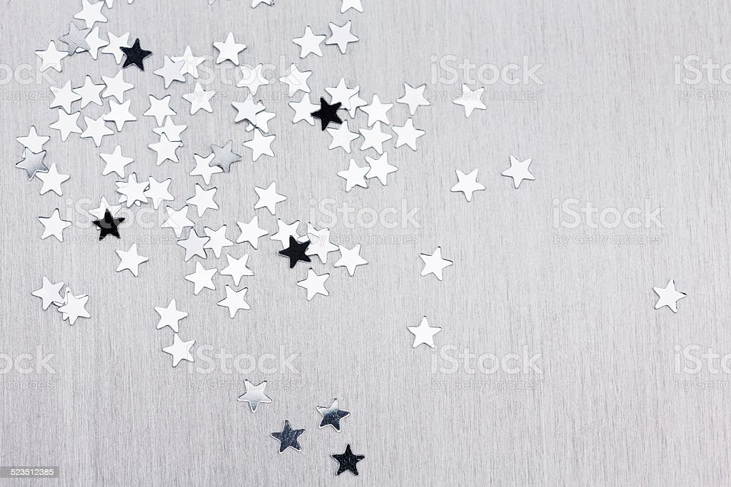 Silver Christmas background stock photo