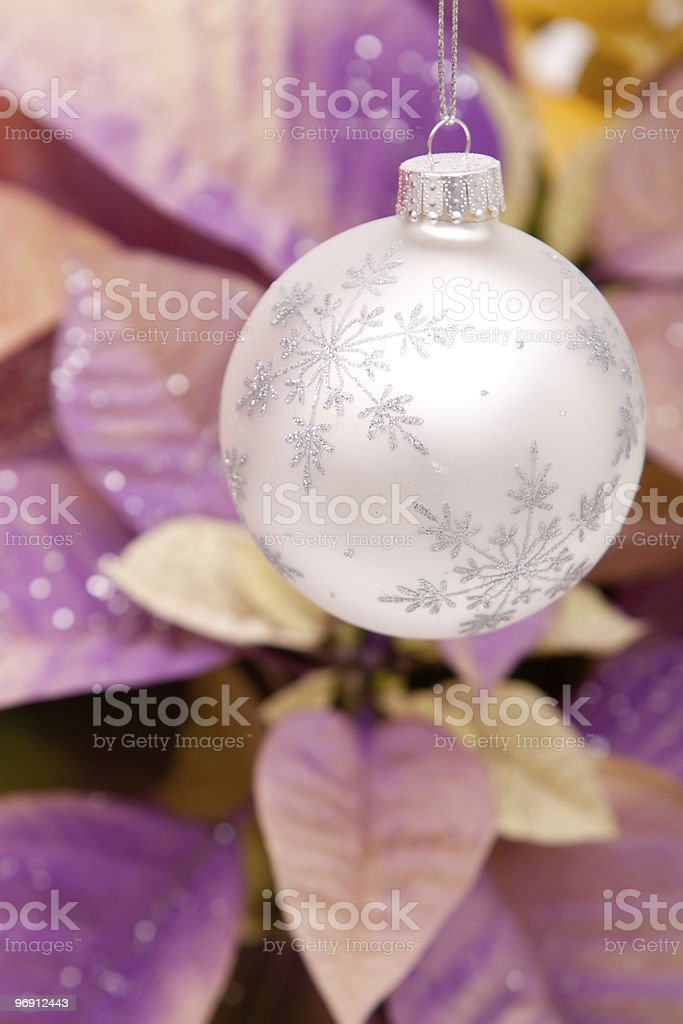 Silver Christmas ornament royalty-free stock photo