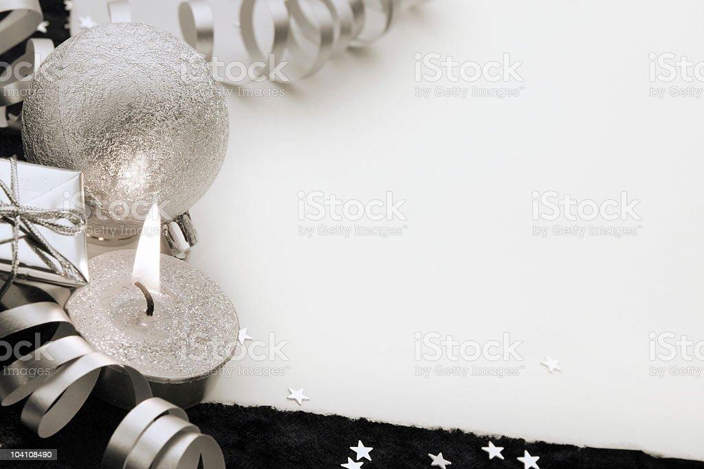 Silver Christmas royalty-free stock photo