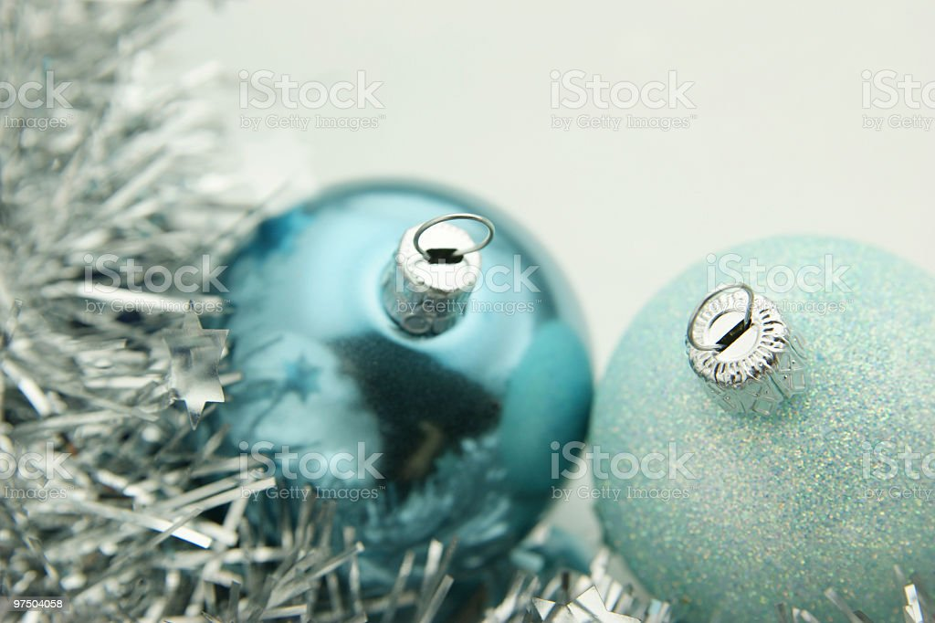 Silver Christmas royalty-free stock photo