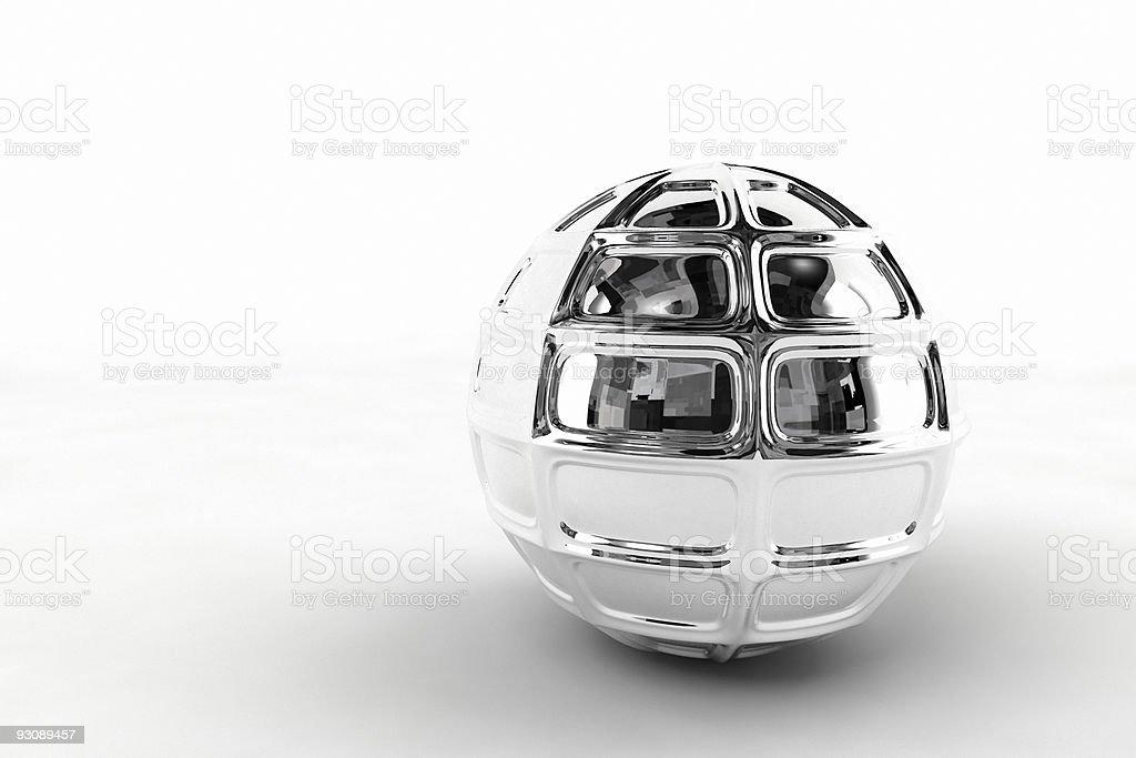 silver chrome ball royalty-free stock photo