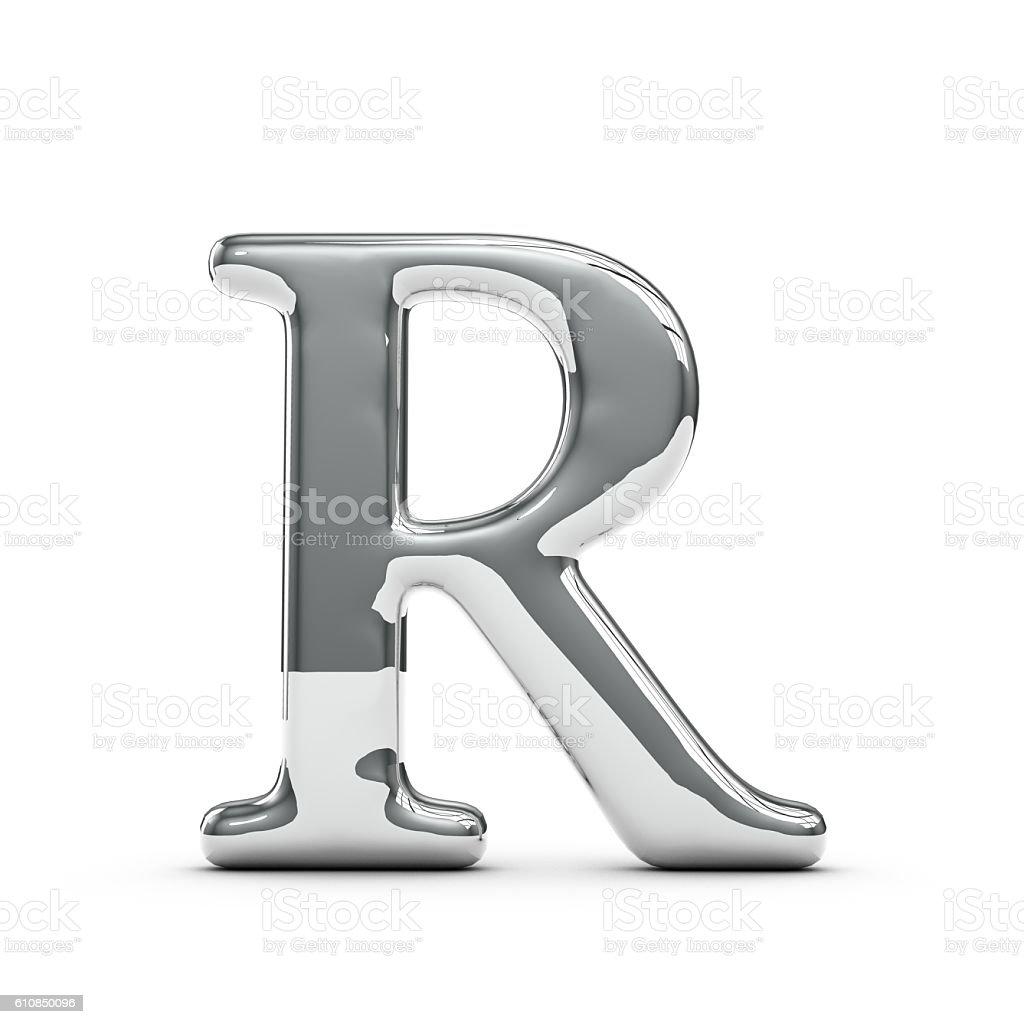 silver chrome capital letter r 3dのストックフォトや画像を多数ご