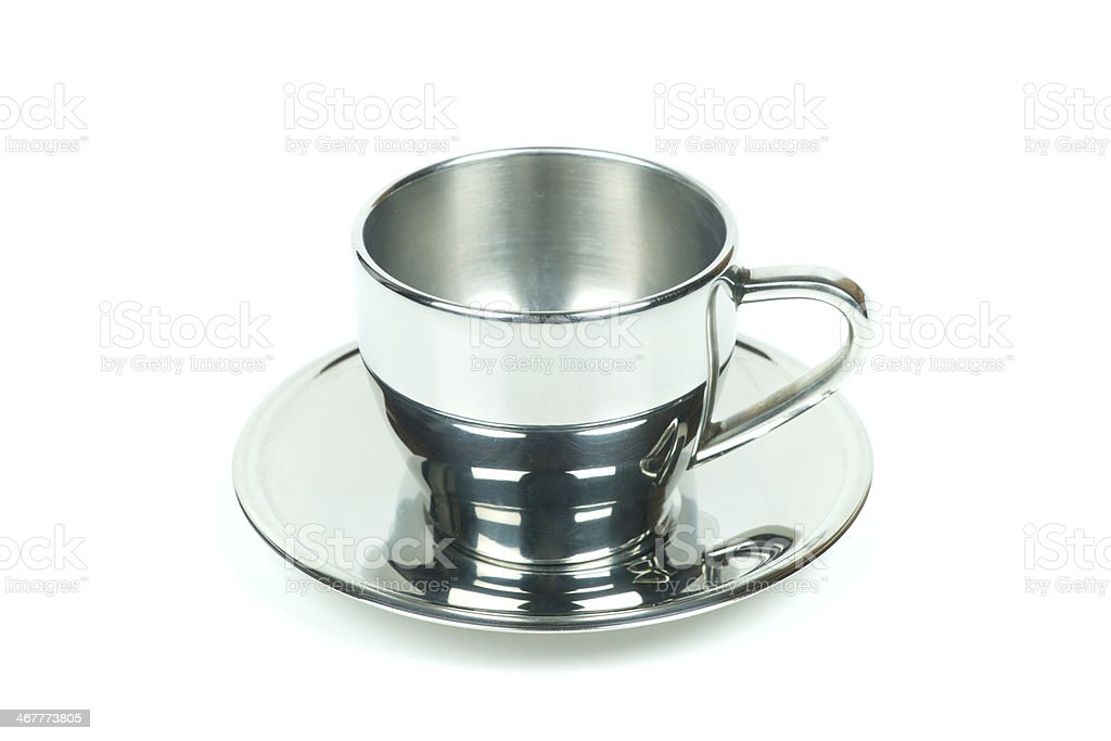 Silver coffee cup royalty-free stock photo