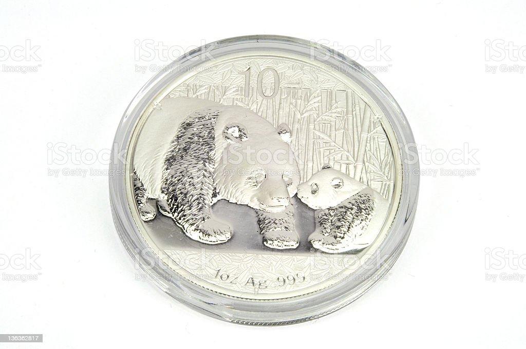 Silver Coin stock photo