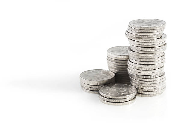 Silver Coins  dime stock pictures, royalty-free photos & images
