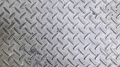 Silver color non-slip metal floor pattern and texture background