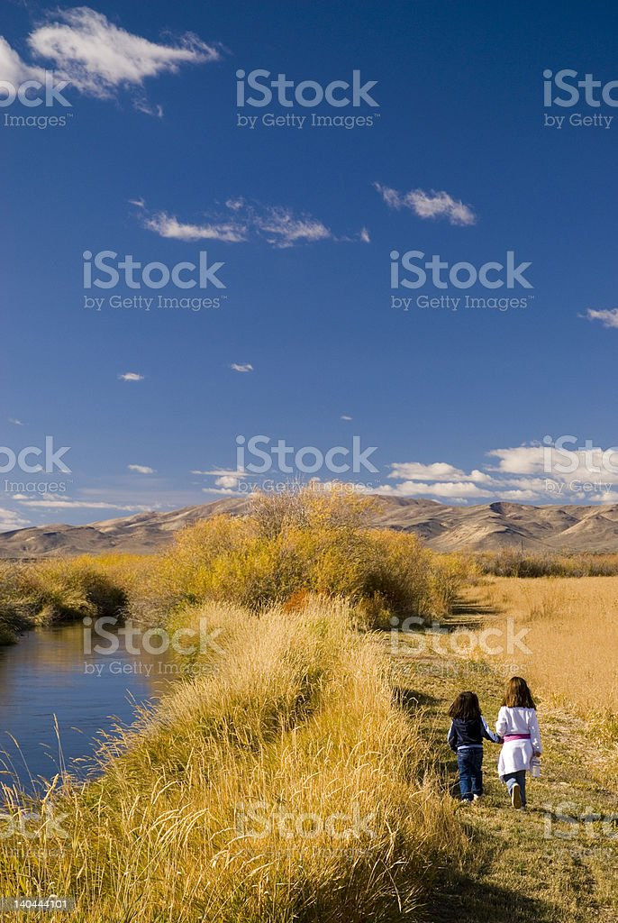 Silver Creek, Holding Hands royalty-free stock photo