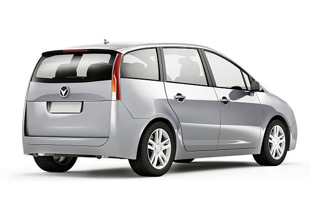 silver auto - hecktürmodell stock-fotos und bilder