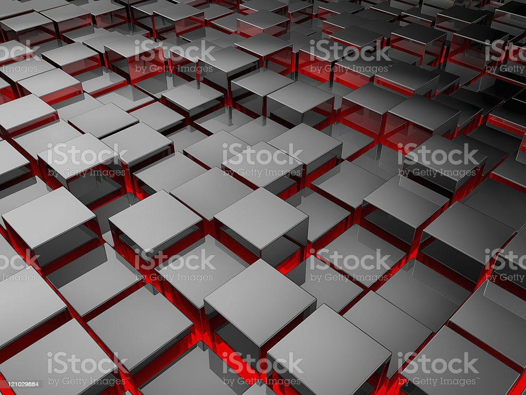 Silver Cubes royalty-free stock photo