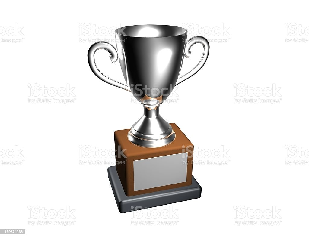 Silver Cup Trophy stock photo