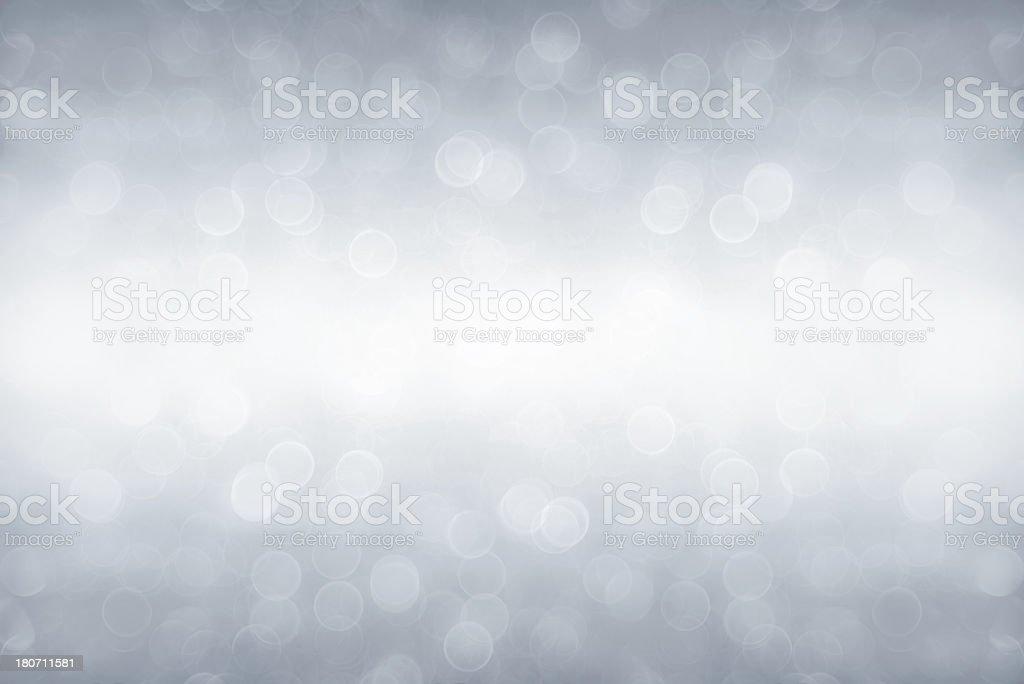 Silver defocused light stock photo