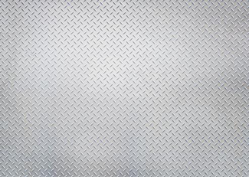 istock Silver diamond steel plate 824033788