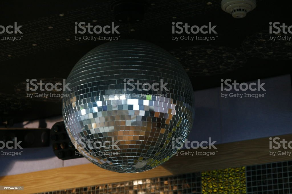Silver disco mirror ball royalty-free stock photo