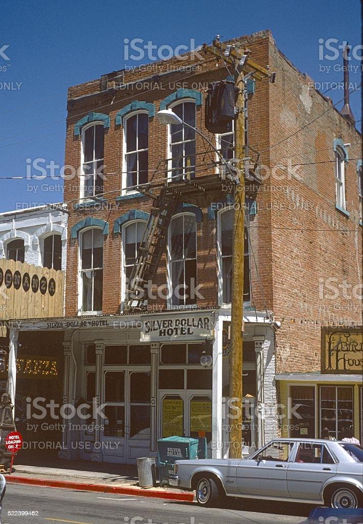 Silver Dollar Hotel, Virgina City, Nevada stock photo