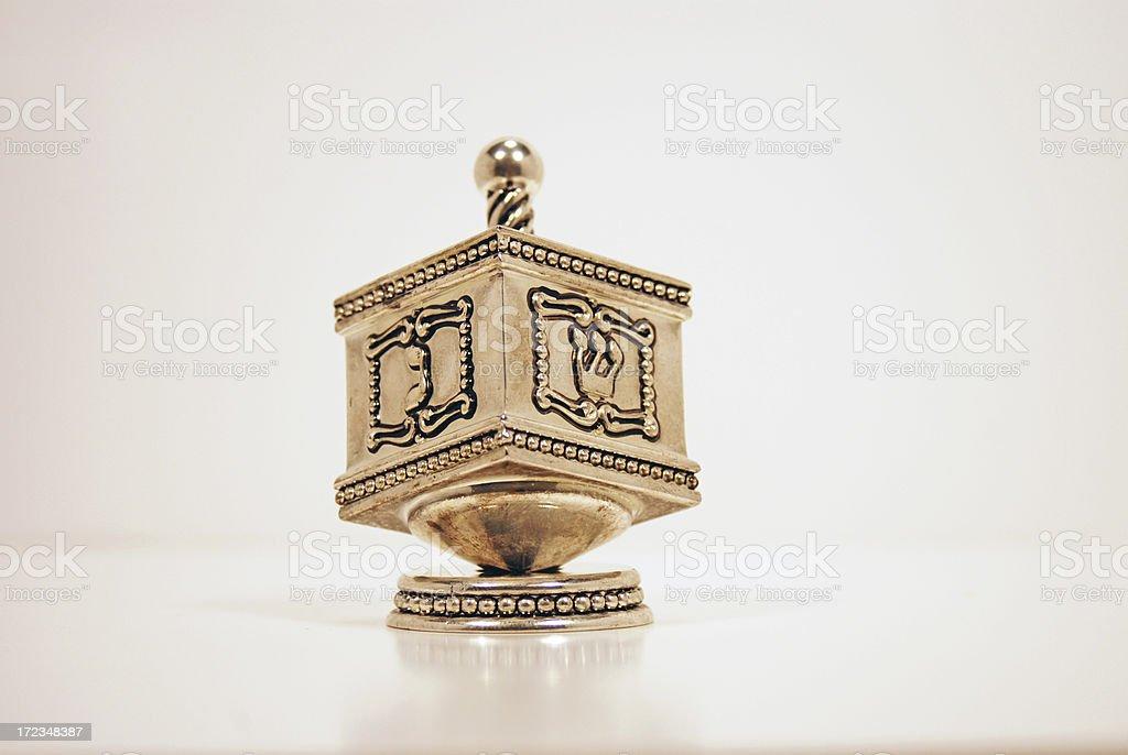 Silver Dreidel royalty-free stock photo