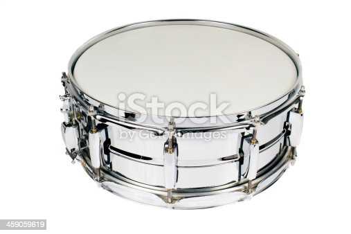 Silver drum isolated on a white background