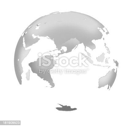 186827106istockphoto 3D silver Earth Structure styled 181909523