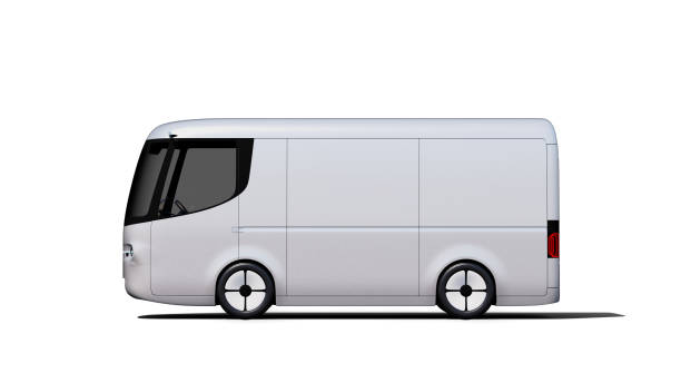 silber elektrischer selbstfahrender Transporter für Branding – Foto