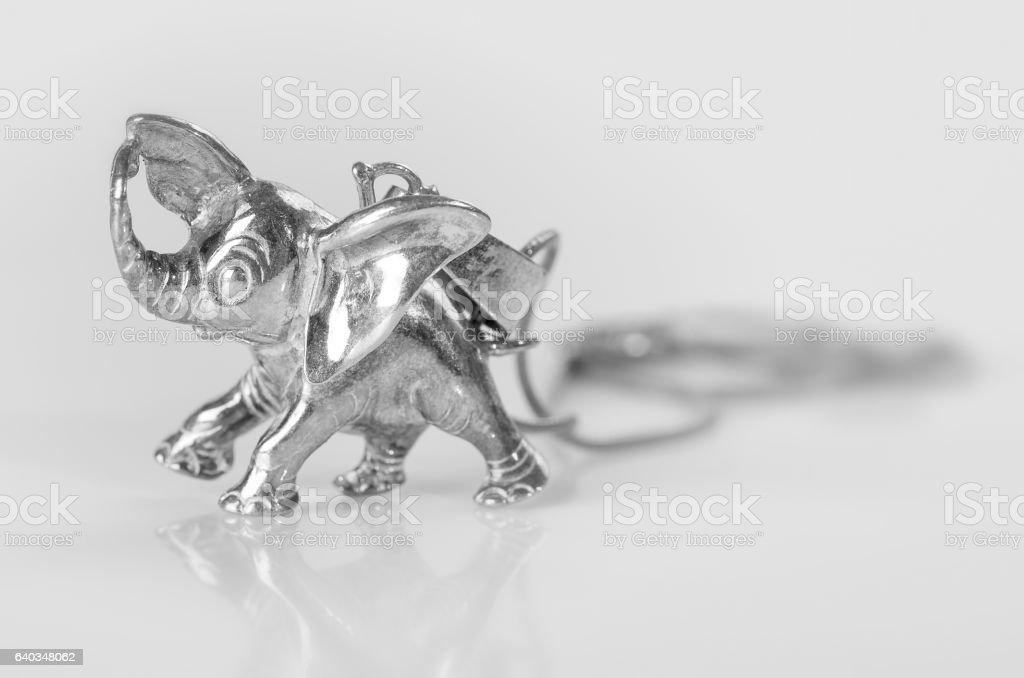 Silver elephant. stock photo
