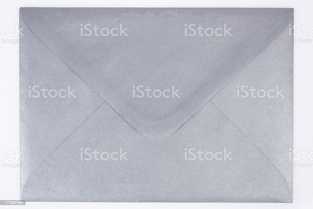 Silver Envelope stock photo