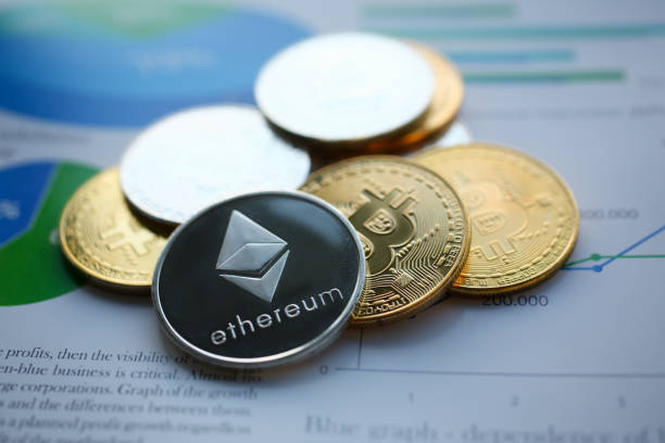 Silver ethereum jn chart paper closeup Silver ethereum jn chart paper closeup. Hard fork news consept initial coin offering stock pictures, royalty-free photos & images
